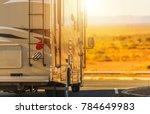recreation vehicle rv trip.... | Shutterstock . vector #784649983