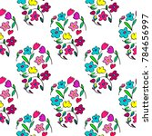 colorful floral pattern | Shutterstock .eps vector #784656997