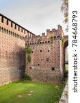 external walls and moat of... | Shutterstock . vector #784668793