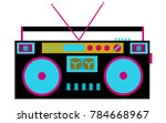 colorful  bright  retro audio... | Shutterstock .eps vector #784668967