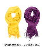 two female tippet scarf...   Shutterstock . vector #784669153