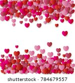 heart confetti background for... | Shutterstock .eps vector #784679557