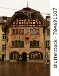 Small photo of Olten, Solothurn, Switzerland - December 8, 2017: The Rathskeller Olten is a popular tavern in the old city quarter