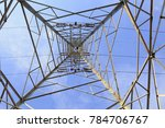 electric tower under the blue... | Shutterstock . vector #784706767