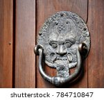 bronze door knocker balinese... | Shutterstock . vector #784710847