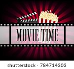 realistic cinematograph... | Shutterstock .eps vector #784714303
