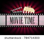 realistic cinematograph...   Shutterstock .eps vector #784714303