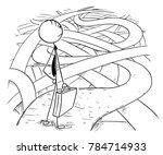 cartoon stick man drawing... | Shutterstock .eps vector #784714933