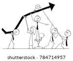 cartoon stick man drawing... | Shutterstock .eps vector #784714957