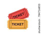 double ticket logo | Shutterstock .eps vector #784716853