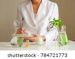 the scientist dermatologist... | Shutterstock . vector #784721773