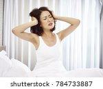 young asian woman suffering... | Shutterstock . vector #784733887