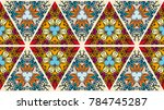 colorful seamless triangle... | Shutterstock .eps vector #784745287