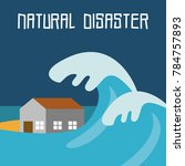 natural disaster illustration... | Shutterstock .eps vector #784757893