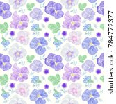 seamless floral pattern with...   Shutterstock . vector #784772377