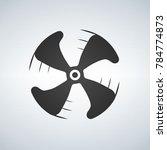 fan icon on white background. | Shutterstock .eps vector #784774873