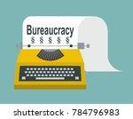 bureaucracy. reference. print... | Shutterstock .eps vector #784796983