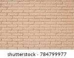 light brown brick wall texture... | Shutterstock . vector #784799977