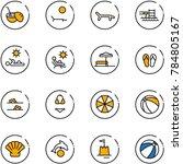 line vector icon set   coconut... | Shutterstock .eps vector #784805167