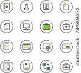 line vector icon set   passport ... | Shutterstock .eps vector #784806373