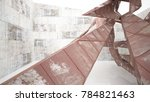 empty abstract room interior of ...   Shutterstock . vector #784821463
