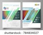 business templates for brochure ... | Shutterstock .eps vector #784834027
