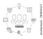 concept of creative teamwork... | Shutterstock .eps vector #784834117