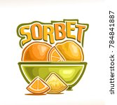 vector logo for lemon sorbet | Shutterstock .eps vector #784841887
