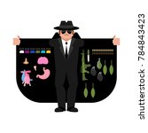 smuggler selling weapons and... | Shutterstock .eps vector #784843423