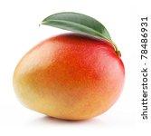 Mango Fruit Isolated On White...
