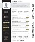 cv design with education skills ... | Shutterstock . vector #784875913