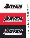black raven logo | Shutterstock .eps vector #784885573