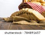 whole grain bread or bread...   Shutterstock . vector #784891657
