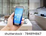 smart phone with smart home and ... | Shutterstock . vector #784894867