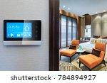 smart screen with smart home... | Shutterstock . vector #784894927