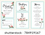 save the date card  wedding... | Shutterstock .eps vector #784919167