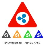 ripple danger icon. vector... | Shutterstock .eps vector #784927753