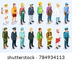 person isometric collection... | Shutterstock . vector #784934113