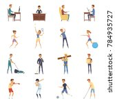 physical activity and lifestyle ... | Shutterstock . vector #784935727