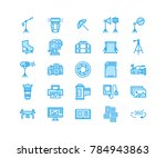 photography equipment flat line ... | Shutterstock .eps vector #784943863