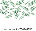 falling 100 dollar bills.... | Shutterstock .eps vector #784944763