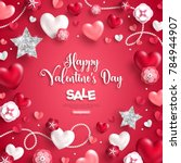 happy saint valentine's day... | Shutterstock .eps vector #784944907