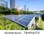 solar panels with cityscape of... | Shutterstock . vector #784956073