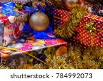 the gift boxes under the... | Shutterstock . vector #784992073