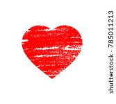heart icon in paper cut style... | Shutterstock .eps vector #785011213