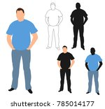 silhouette man standing | Shutterstock . vector #785014177