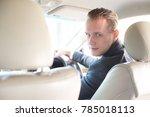 businessman driving car. man... | Shutterstock . vector #785018113