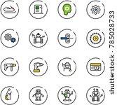 line vector icon set  ... | Shutterstock .eps vector #785028733