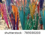 fire candle  burning stick ... | Shutterstock . vector #785030203