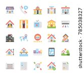 creative flat icons set of... | Shutterstock .eps vector #785038327
